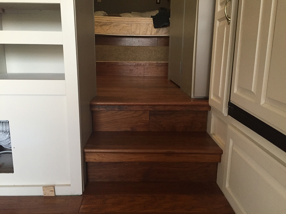 Recycled Wood Floor for RV