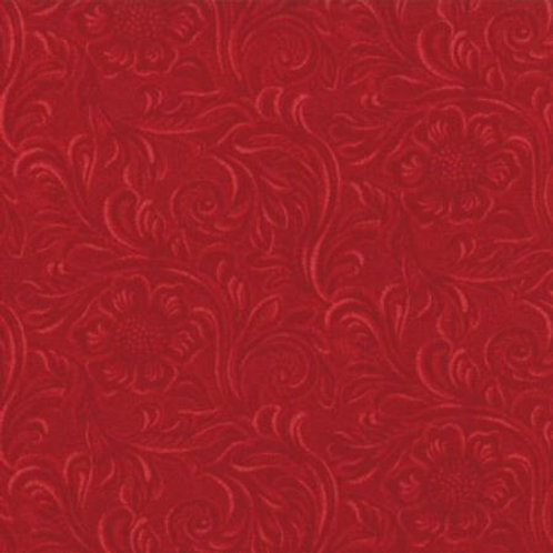 Tooled Leather - Red