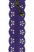 Little Lacy Zippers - Purple