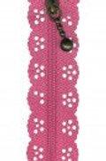 Little Lacy Zipper - M. Pink