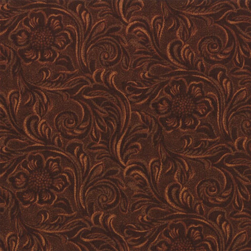 Tooled Leather Brown