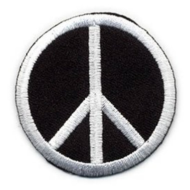 Embroidered Iron-on Applique Peace Sign