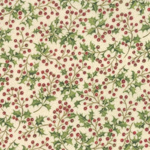 Poinsettias Pine - Cream