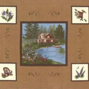 Lady Slipper Lodge - Tan (Panel)
