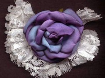 Flower with Lace and Pin Back