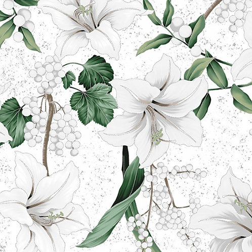 Winter Blooms - White Silver