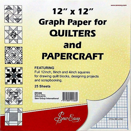"""Quilters Graph Paper - 12""""x12"""""""