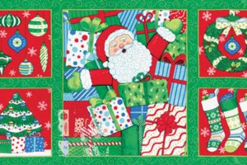 Ho Ho Ho - Christmas Tree Green (panel)