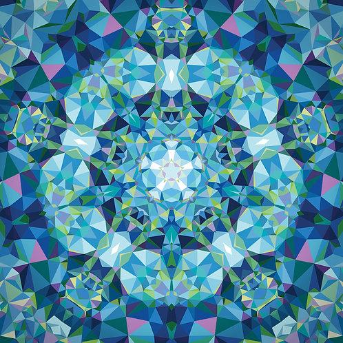 Gradients Kaleidoscope - Pan Blue