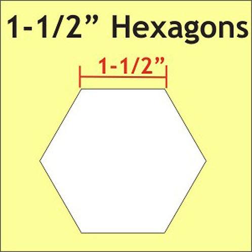 """Hex150 Paper Piece - 1.5"""""""