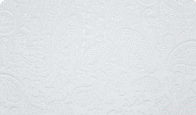 Embossed Paisley - Snow