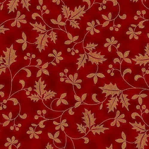 Poised Poinsettia - Floral Gold
