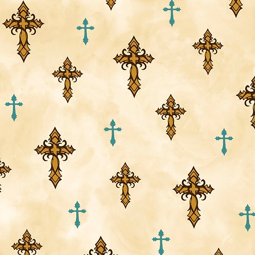 Amazing Grace - Cream crosses