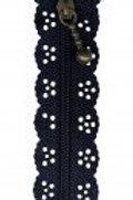 Little Lacy Zippers - Navy Blue