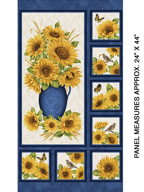 Accent of Sunflower - Blue