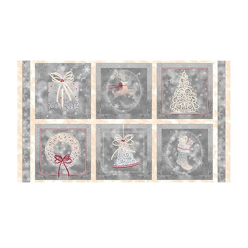Holiday Elegance - Silver (Panel)