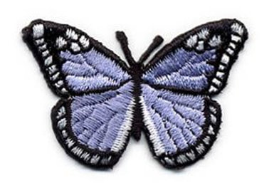Embroidered Iron-on Applique Butterfly