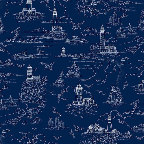 The Lightkeeper's Quilt - Dark Blue