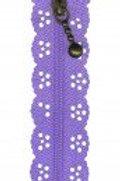 Little Lacy Zippers - Lavender
