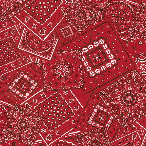 Bunk House Bandana - Real Red