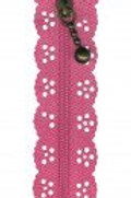 Little Lacy Zippers - M. Pink