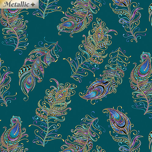 Floating Feathers - Teal
