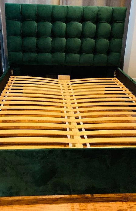 Custom upholstered bed