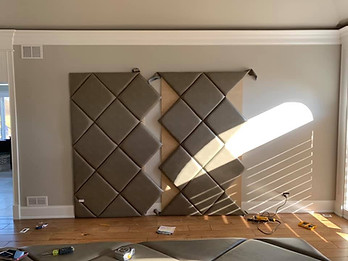 Orland Park - wall during installation