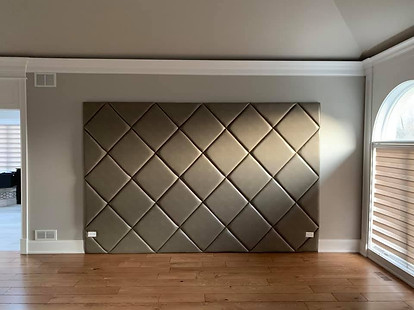 Orland Park Custom upholstered wall for bedroom