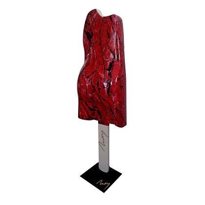 Esculmau 105 Marbré Rouge/Noir