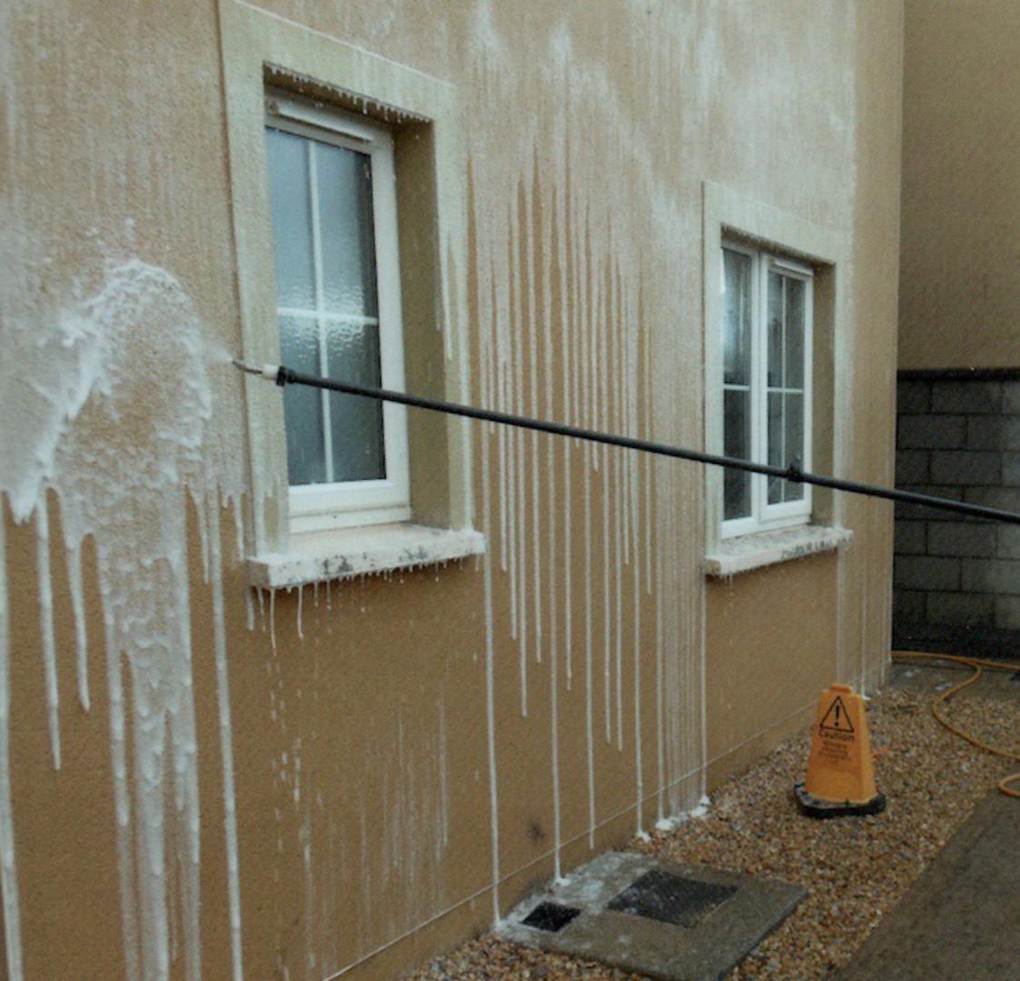 Using the Soft Washing method.