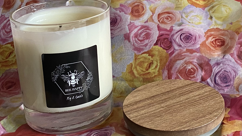 Fig & Cassis hand poured lidded candle