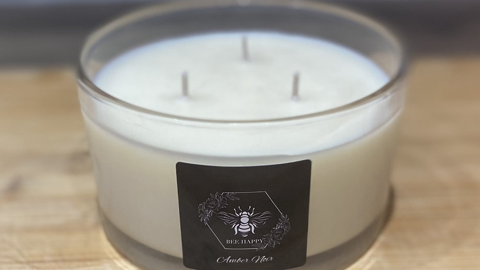 Amber Noir 500ml three wick hand poured candle