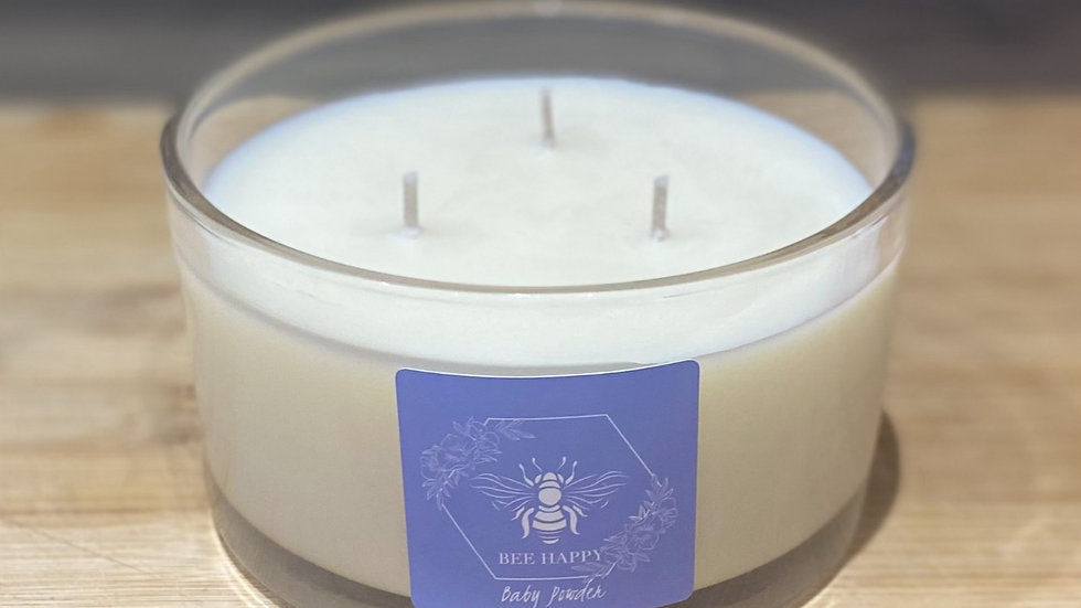 Baby Powder 500ml three wick hand poured candle