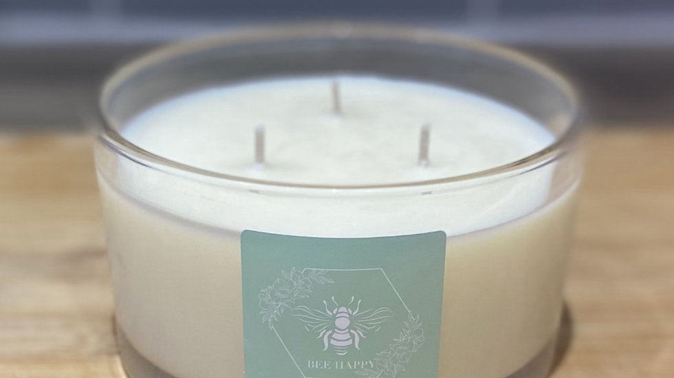 Lime, Basil & Mandarin three wick hand poured candle