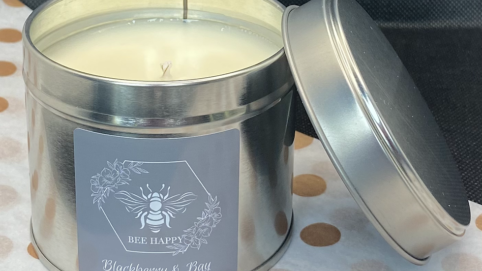 Blackberry & Bay hand poured tinned candle