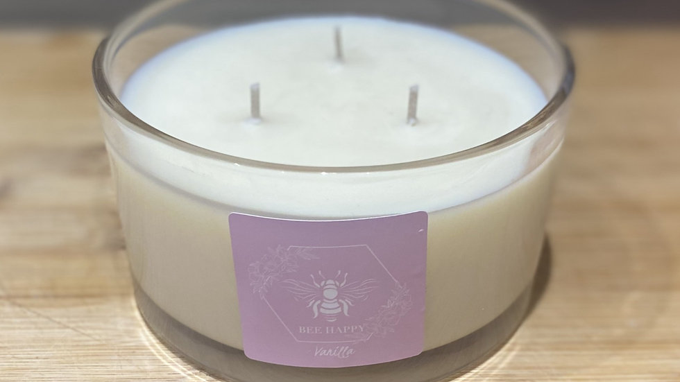 Vanilla three wick hand poured candle