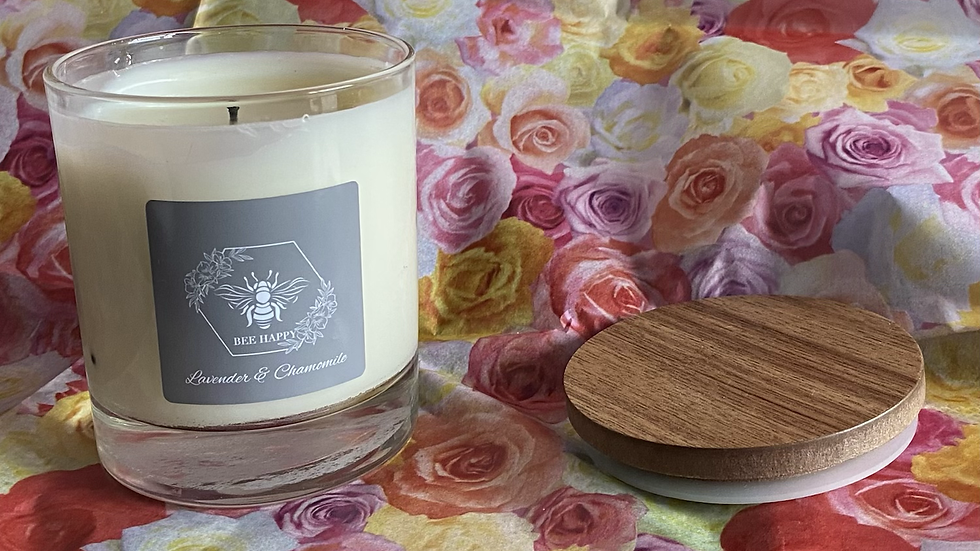 Lavender & Chamomile hand poured lidded candle