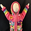 Thumbnail: Children's Hooded Zip-up Peruvian Hand-appliquéd Sweater
