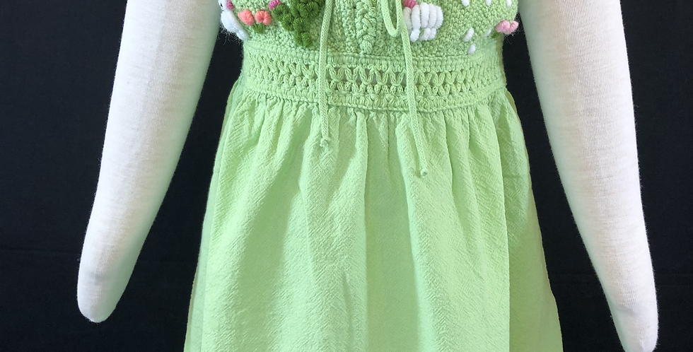 Children's Peruvian Knit and Hand-embroidered Dress