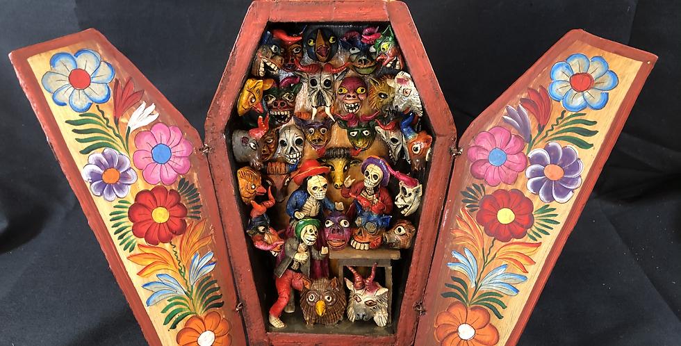 Peruvian Retablo de Mask Maker