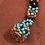 Thumbnail: Mayan Hand-beaded Necklace Metal Clasp
