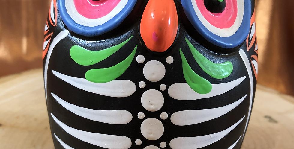 Hand-painted Owl Skeleton Ceramic