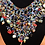 Thumbnail: Multi-stone Hand-beaded Glass Necklace & Earring Set with Coral & Pearl