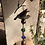 Thumbnail: Metal Large Bird Wind-chime with Chunky Glass Beads