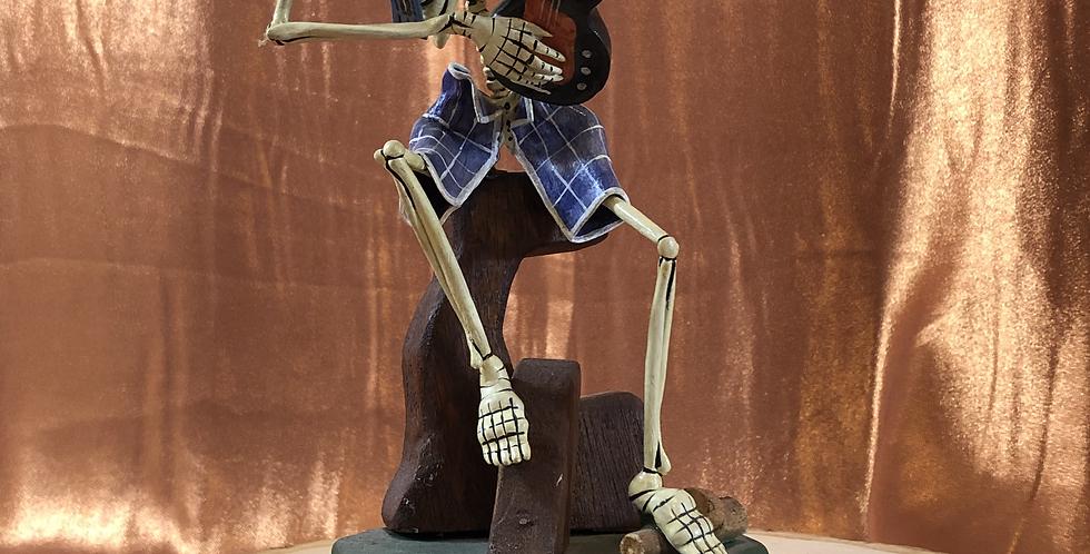 Peruvian Skeleton Playing Electric Guitar