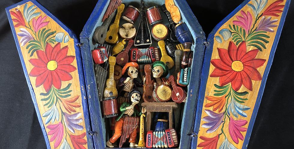 Peruvian Retablo de Musical Instrument Maker