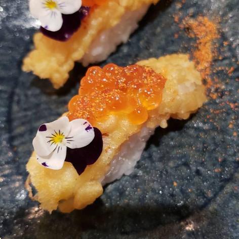 Shrimp tempura sushi