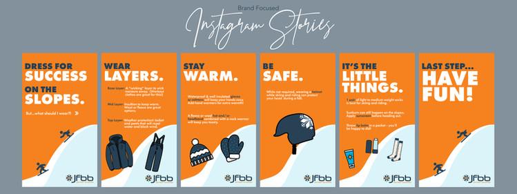 Brand Focused IG Stories - JFBB Example.
