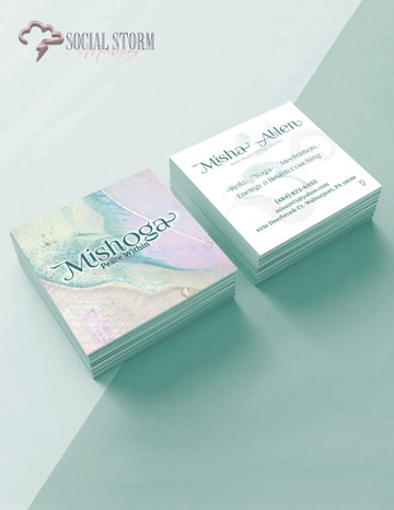 Mishoga - Square Business Card Mock Up S